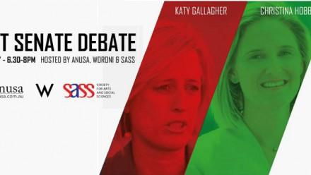 ACT Senate Debate Participants Katy Gallagher and Christina Hobbs