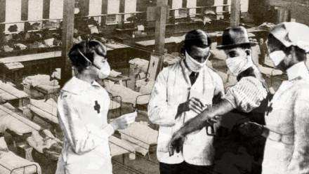 Image of Hyde Park Inoculation Depot, Sydney February 1919