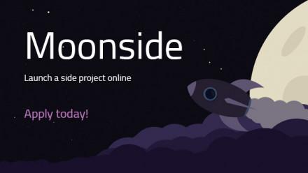 Moonside space banner