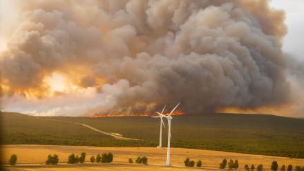 Bushfire and Turbines