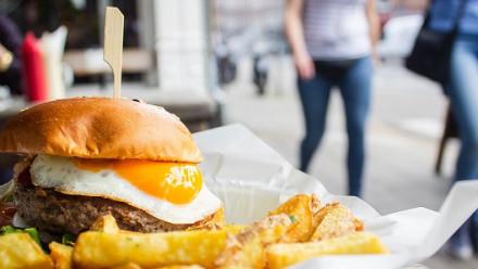 Hamburger image by Louis Hansel via Unsplash