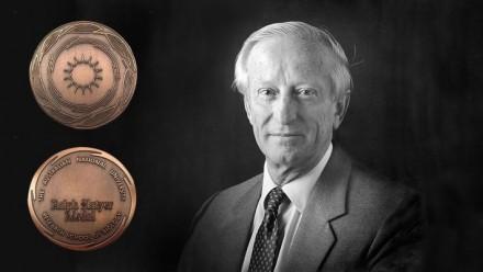 Photo of Ralph Slatyer and Ralph Slatyer medal