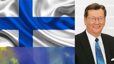 Picture of Pasi Patokallio and Finnish flag