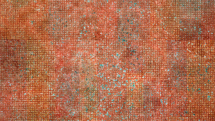 Savanhdary Vongpoothorn, Polyphony, 2001. Acrylic on perforated canvas, 170 x 120 cm. Private Collection. Photograph: Mark Ashkanasy.