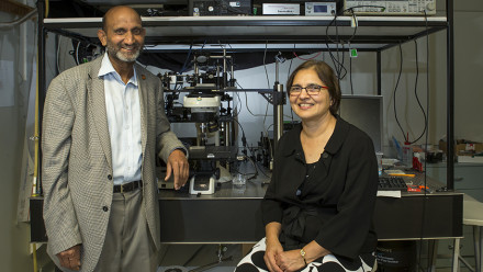 Distinguished Professor Chennupati Jagadish and Dr Vidya Jagadish