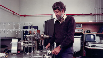 Ian McDougall in the lab