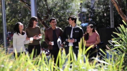 Group of ANU Students outdoors