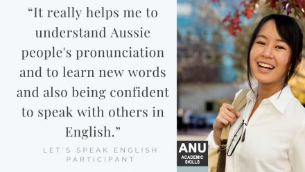 "Student quote: ""It really helps me to understand Aussie people's pronunciation and to learn new words and also being confident to speak with others in English."""