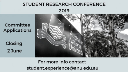 Student Research Conference committee applications open now. Closing 2nd June.
