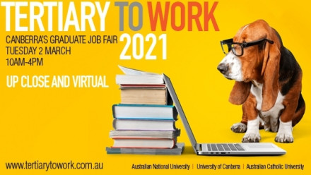 Tertiary to Work 2021 Career Fair Tuesday 2nd March 2021 10am to 4pm