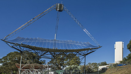 The ANU solar thermal dish. Photo: Stuart Hay.