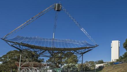 The ANU solar thermal dish. Photo: Stuart Hay.