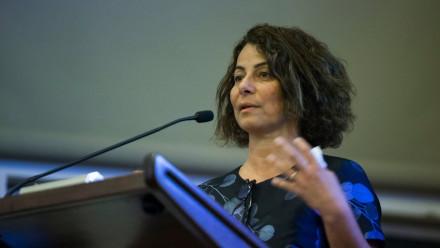 Professor Elanor Huntington in conversation with Lama Nachman