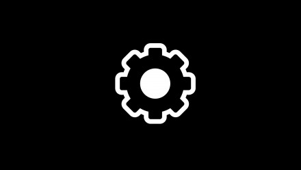 An icon image of a gear