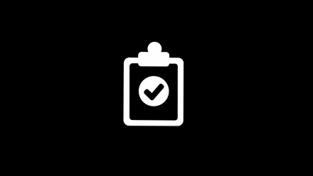 An icon of a checklist with ticks on it