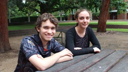 Jackson Gray and Sarah Loynes. Image: Kate Prestt.
