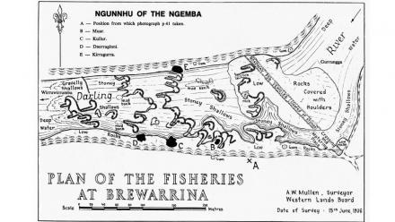 Plan of the fisheries at Brewarrina