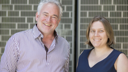 Peter Bouwknegt and Kate Turner. Photo by Kate Llewellyn, ANU.