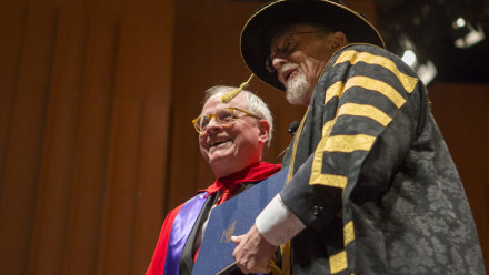 Chancellor, it is my privilege to present to you for a degree of the University, the Honourable Sir Ross Cranston. Sir Ross has made an exceptional contribution to the international legal profession and to public service in the United Kingdom, as a former