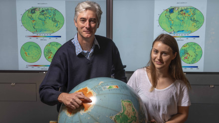 Dr Paul Tregoning and Rebecca McGirr. Image credit: ANU
