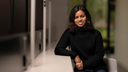 ANU 3MT People's Choice award winner, Jessica Rahman. Image: The Australian National University