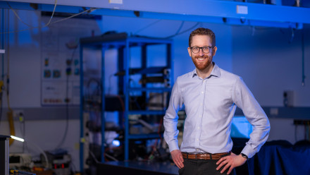 ANU physicist and Quantum Brilliance co-founder Dr Andrew Horsley. Photo: Jamie Kidston/ANU