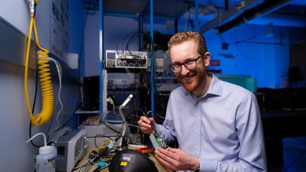 Dr Andrew Horsley, CEO of Quantum Brilliance. Photo: Jamie Kidston/ANU