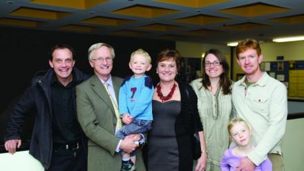 Professor Jim Williams and family