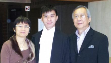 Jack Tsang with Peggy and Stephen Tsang