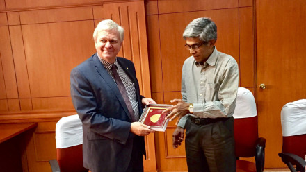 Meeting with Bhaskar Ramamurthi, director of the Indian Institute of Technology, Madras