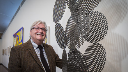Terence Maloon, DHG Director, in front of Foam by James Rogers