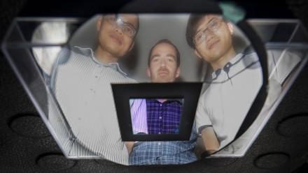 ANU PhD student The Duong, Dr Tom White and PhD student Jun Peng. Image: Jack Fox, ANU.