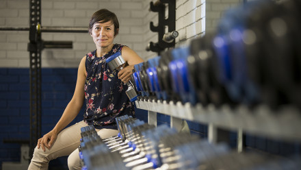 Dr Marnie Shaw from the ANU Research School of Engineering. Image credit: Stuart Hay, ANU