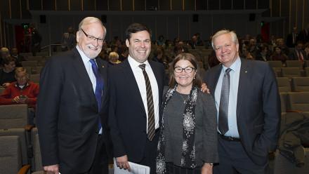 Gareth Evans, Damien Miller, Anne Martin and Brian Schmidt