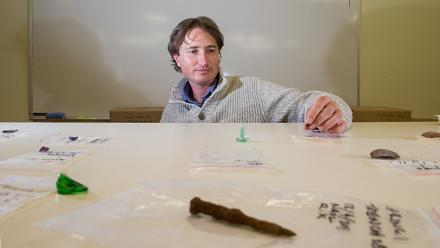 The Springbank Island dig unearthed a large number of Aboriginal artefacts. Image: Stuart Hay, ANU.