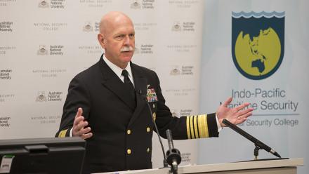 US Pacific Fleet Admiral Scott Swift. Image: Stuart Hay, ANU
