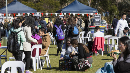The University's 71st anniversary was celebrated on Wednesday 2 August. Photo: Stuart Hay, ANU.