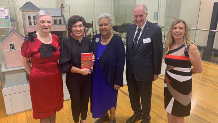 Emeritus Professor Kay Saunders AO, the Hon. Leeanne Enoch MP, Dr Jackie Huggins, Dr Denver Beanland, AM, Professor Ann McGrath AM at the Royal Historical Society of Queensland.