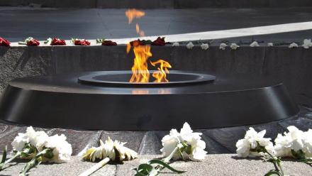 The eternal flame at the Armenian genocide memorial. Image by young shanahan on flickr.