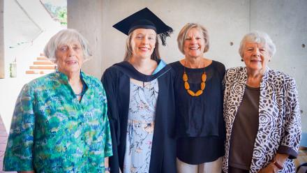 L to R- Val Baker, Dr Eileen Slatyer Baker, Beth Slatyer and June Slatyer.