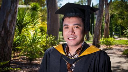 New graduate Billy Mambrasar