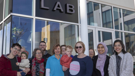 Members of the University's Breastfeeding Working Group and Australian Breastfeeding Association. Photo by Simon Jenkins, ANU.
