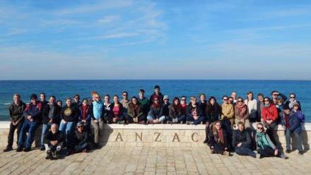 ANU Classics students at ANZAC Cove