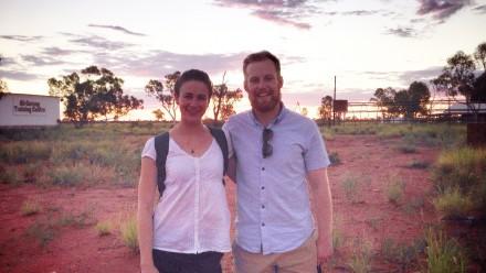 ANU alumni Amelia Green and Will Lutwyche in the Northern Territory.