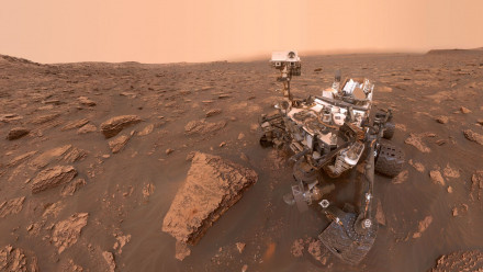 A self-portrait of NASA's Curiosity rover in Gale Crater. Image credit: NASA/JPL-Caltech/MSSS