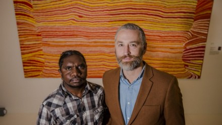 Indigenous artist/film maker Curtis Taylor and National Museum consultant curator Dr John Carty