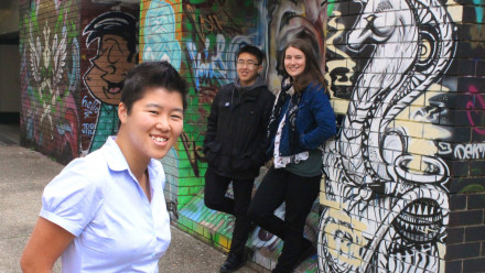 Picture of Sam (Executive Director), James (Director) and Kelsie (Funding Coordinator). Photo: Faces of ANU