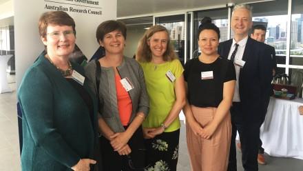 From left: Professor Margaret Harding, Dr Janet Gardner, Professor Naomi McClure-Griffiths, Dr Denisse Leyton, Dr Tim Denham