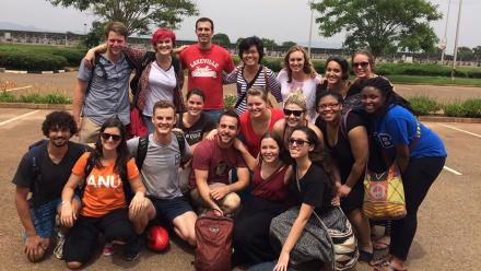 ANU and University of Minnesota students who took part in the inaugural Global Undergraduate Leaders Program trip to Malawi.
