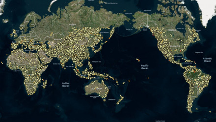 A snapshot of the world map with prospective short-term off-river pumped-hydro energy storage (STORES) sites can be downloaded by clicking on the image icon below. Credit: Matthew Stocks and ANU colleagues, AREMI